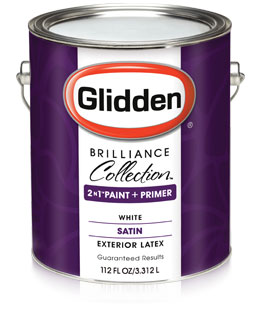 Glidden brilliance collection satin exterior paint primer - What is satin paint ...