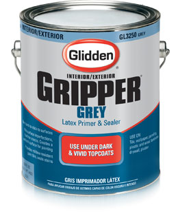 Glidden Grey Gripper Primer For Vivid Paint Colors